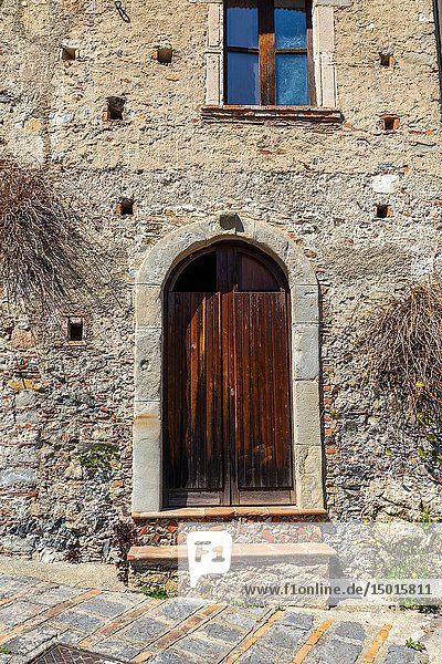 The Ancient door of a Sicilian house.