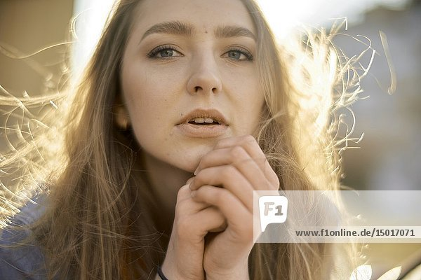 Young woman  in Cottbus  Brandenburg  Germany