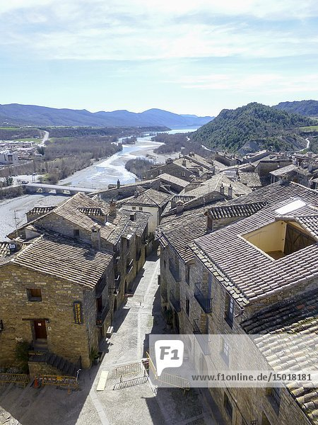 AINSA SPAIN ON MARCH 16  2019: Ainsa is one of the Most Beautiful Villages to Visit in Aragón  Spain.