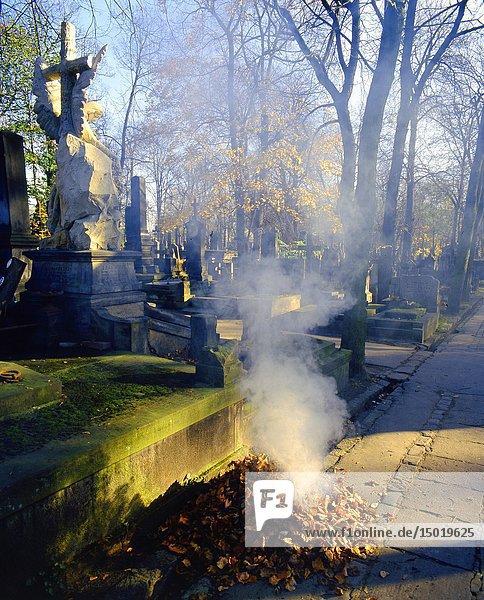 Poland. Warsaw. Powazki Cemetery the oldest cemetery in Warsaw