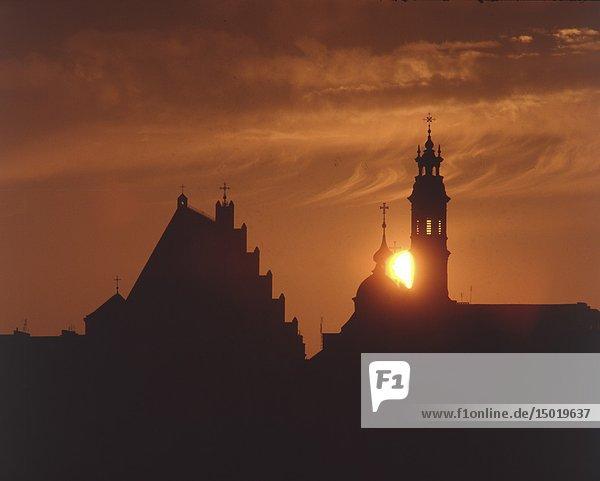 Poland. Warsaw. Sunset. Old Town