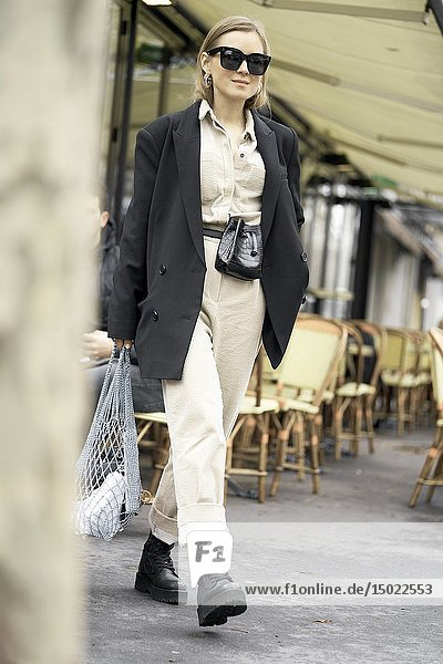 Fashionable woman  in Paris  France.