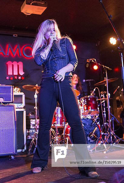 Madrid  Spain- April 25: Matte Gustafsson and Lisa Lystam from Heavy Feather rock band performs in concert at Sala Clamores on april 25 2019 in Madrid  Spain (Photo by: Angel Manzano)