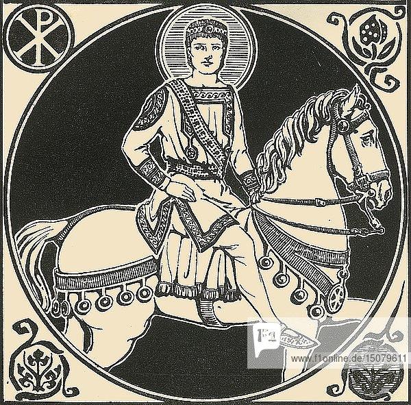 'The Emperor Justinian'  1924. Creator: Herbert Norris.