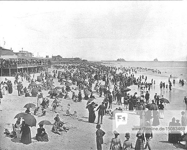 The Beach at Atlantic City  New Jersey  USA  c1900. Creator: Unknown.
