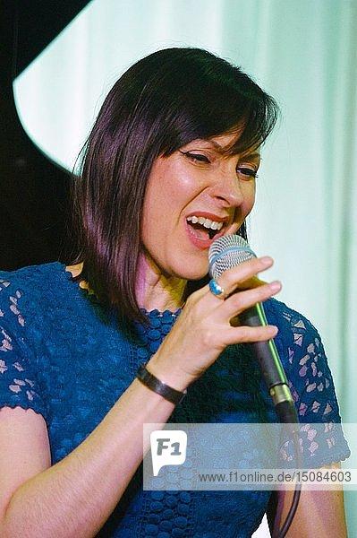Georgia Mancio  Watermill Jazz Club  Dorking  Surrey  UK  14 May 2019. Creator: Brian O'Connor.
