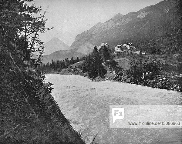 'Bow River Raids  Banff  N.W.T.'  c1897. Creator: Unknown.
