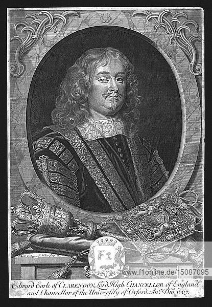 Edward  Earl of Clarendon 1667. Creator: R White.