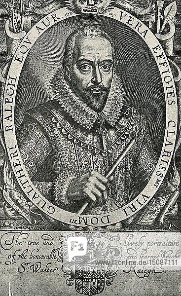 'Sir Walter Raleigh'  1906. Creator: Simon de Passe.