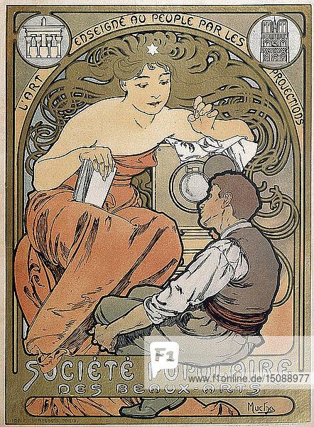 Poster for the Societe Populaire des Beaux Arts  1897. Artist: Alphonse Mucha