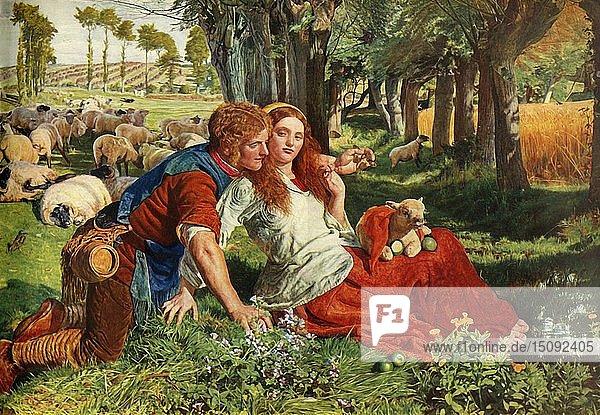 'The Hireling Shepherd'  1851  (1948). Creator: William Holman Hunt.