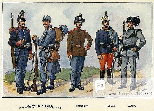 'Types of the Austro-Hungarian Army'  1919. Creator: Richard Simkin.