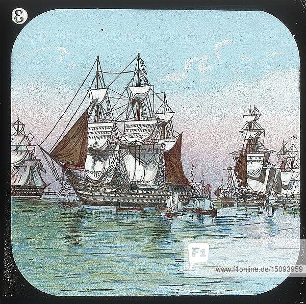 'The Fleet at Spithead  1853'  c1900. Creator: Unknown.