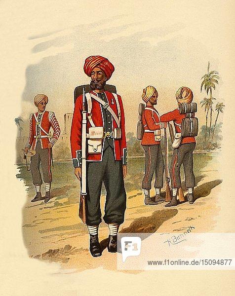 '15th Sikhs',  1890. Creator: Godfrey Douglas Giles.
