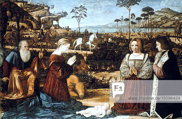 'Holy Family with Two Donors'  1505. Artist: Vittore Carpaccio