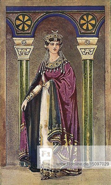 'The Empress Theodora - Sixth Century  A.D.'  1924. Creator: Herbert Norris.