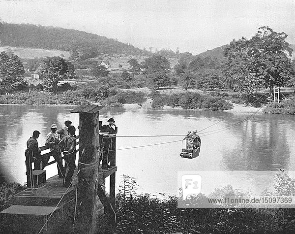 Cable Ferry  near La Colle  Pennsylvania  USA  c1900. Creator: Unknown.