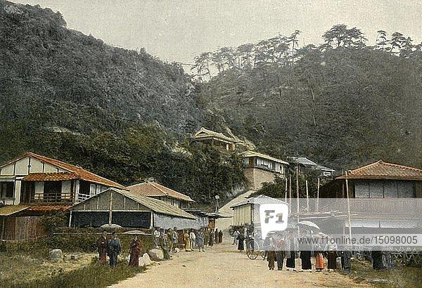 'Une Rue A Nunobiki  Pres De Kobe'  (A Road in Nunobiki  near Kobe)  1900. Creator: Unknown.