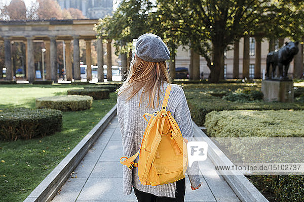 Young woman in Museum Island Park in Berlin  Germany