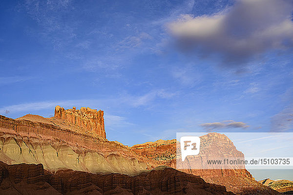 Castle Rock in Capitol Reef National Park  Utah  USA