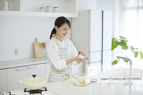 Japanese woman in the kitchen