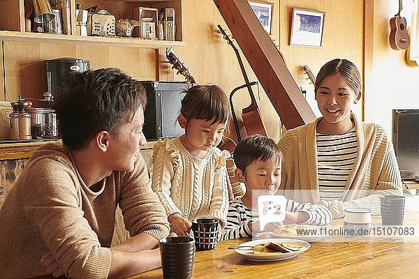 Japanese family at home