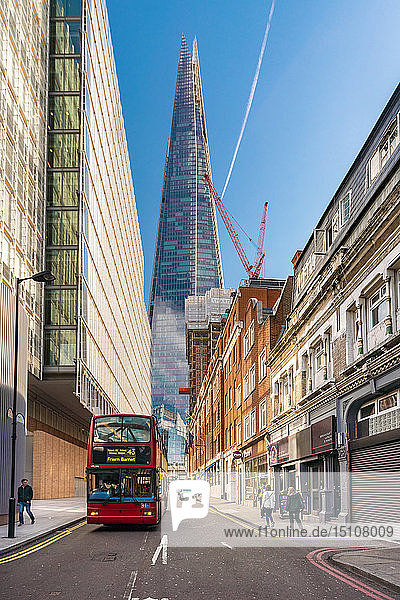 UK  London  Borough Market  street with The Shard in background