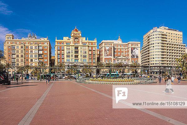 Spain  Malaga  Plaza de la Marina