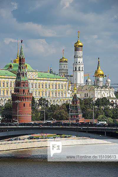Russia  Moscow seen from a river cruise along the Moskva
