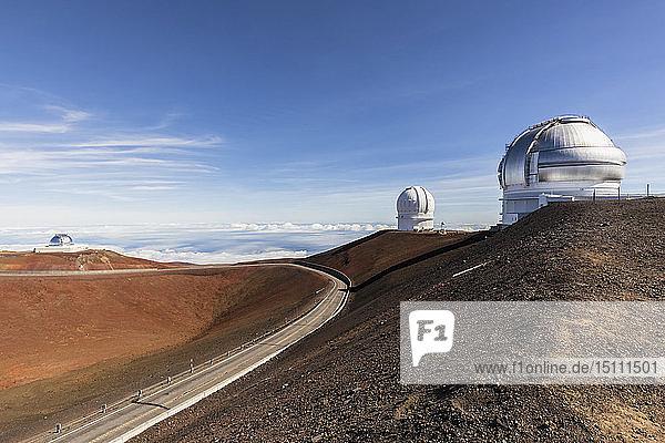 USA  Hawaii  Mauna Kea volcano  telescopes at Mauna Kea Observatories