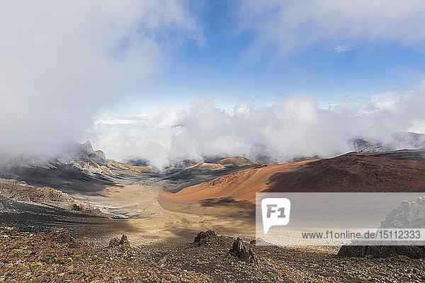 Krater des Haleakala im Haleakala-Nationalpark  Maui  Hawaii