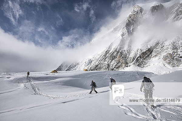 Nepal  Solo Khumbu  Everest  Mountaineers at Western Cwm
