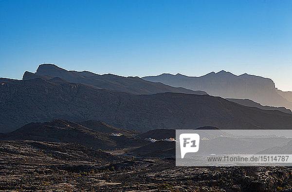 Oman  Ad Dakhiliyah Gouvernorat  Al Hajar-Gebirge  Dörfer