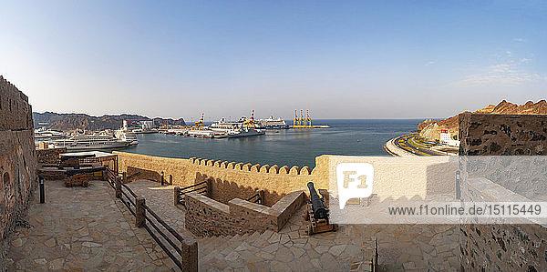 Fort Matrah  Blick Richtung Hafen  Matrah  Muscat  Oman