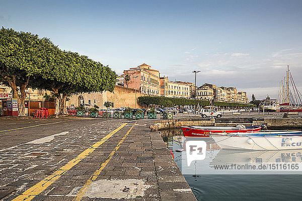 Italy  Sicily  Ortygia  Syracuse  harbour