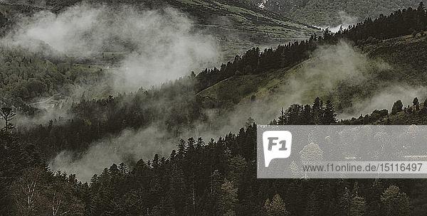 Panoramadetail der Pyrenäen von Frankreich