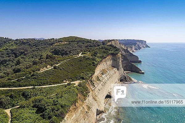 Griechenland  Korfu  Luftaufnahme von Kap Drastis