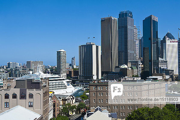 Skyline von Sydney  New South Wales  Australien