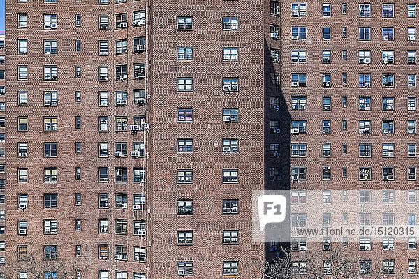 Detail eines Wohnblocks  New York City  USA