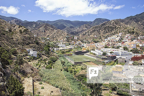Blick auf Vallehermoso  La Gomera  Kanarische Inseln  Spanien