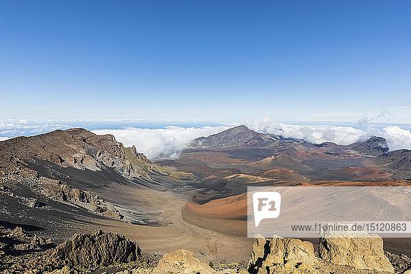 Krater des Haleakala-Vulkans  Haleakala-Nationalpark  Hawaii  USA