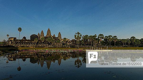 Ansicht der Tempelanlage Angkor Wat  Siem Reap  Kambodscha