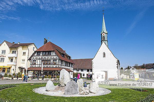 Little church in Unteruhldingen on Lake Constance  Germany  Europe