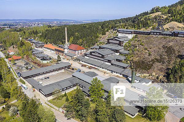 Aerial of the Mines of Rammelsberg  UNESCO World Heritage Site  Goslar  Lower Saxony  Germany  Europe