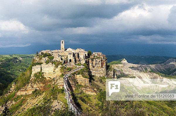 Civita di Bagnoregio  Province of Viterbo  Lazio  Italy  Europe