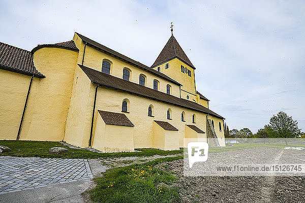 St. Georg church  Reichenau-Oberzell  Reichenau Island  UNESCO World Heritage Site  Lake Constance  Baden-Wurttemberg  Germany  Europe