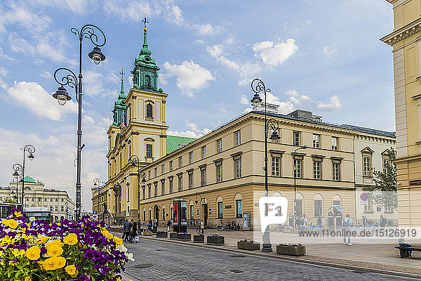 The Holy Cross Church in the Old Town  UNESCO World Heritage Site  Warsaw  Poland  Europe