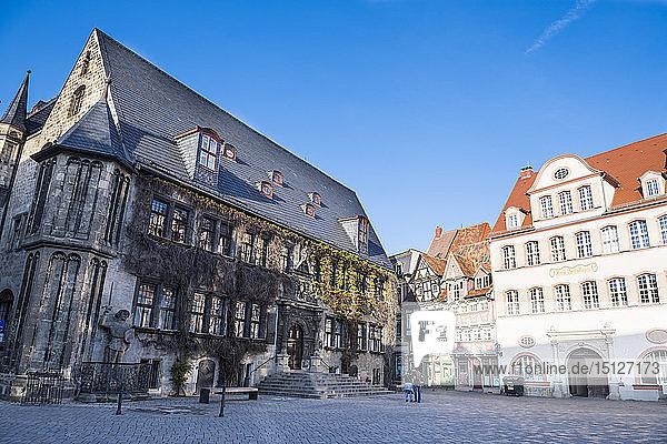 The town of Quedlinburg  UNESCO World Heritage Site  Saxony-Anhalt  Germany  Europe