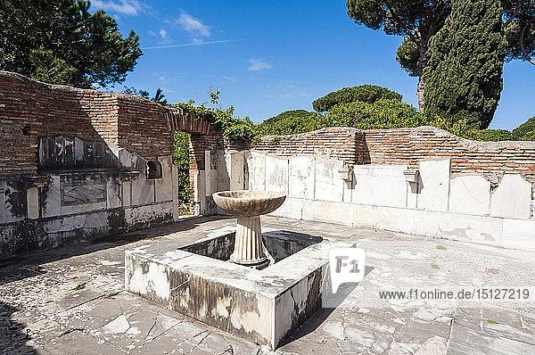 Ninfeo degli Eroti  Ostia Antica archaeological site  Ostia  Rome province  Lazio  Italy  Europe