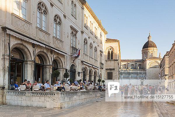 Old town  UNESCO World Heritage Site  Dubrovnik  Croatia  Europe